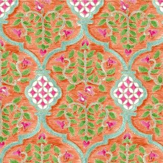 Ferran Sevilla Fabric, Sample, Papaya in Belgian Linen For Sale