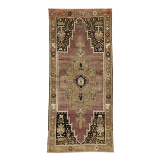 Antique Turkish Oushak Runner with Modern Tribal Style For Sale