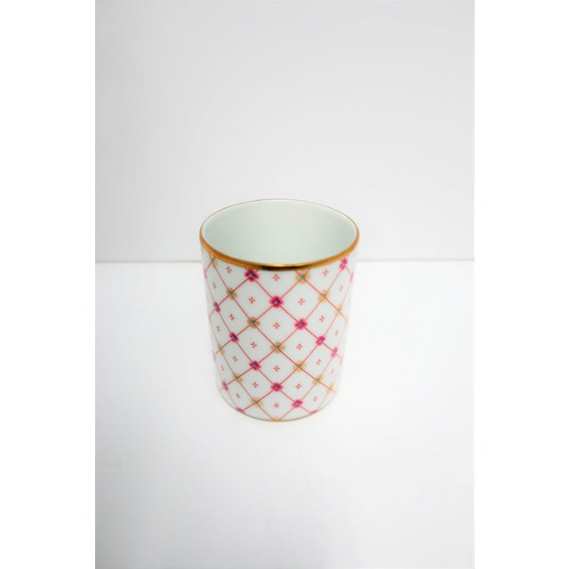 Richard Ginori Italian White and Gold Porcelain Vanity Cup by Designer Richard Ginori For Sale - Image 4 of 11