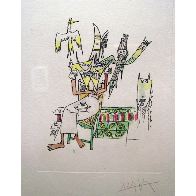 Wifredo Lam Untitled Watercolor Etching For Sale - Image 5 of 6