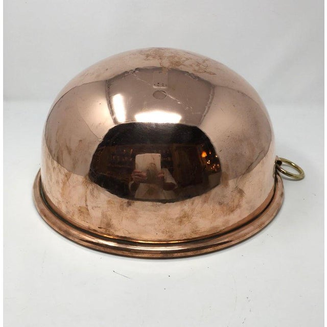 Metal Large Copper Mixing Bowl For Sale - Image 7 of 11