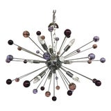 Image of Chandelier Murano Glass Triedo Sputnik Multicolors For Sale
