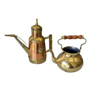 1970s Copper Tea Kettles - Set of 2 For Sale