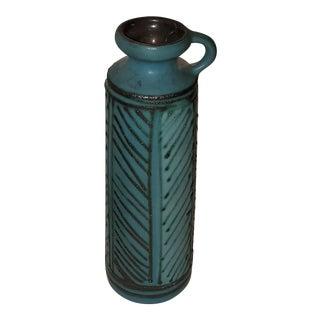 Donard Germany Pottery Teal Vase For Sale