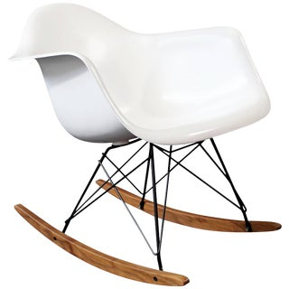 Mid-Century Modern Vintage Eames Herman Miller Shell Rocker Rocking Chair, 1970s For Sale