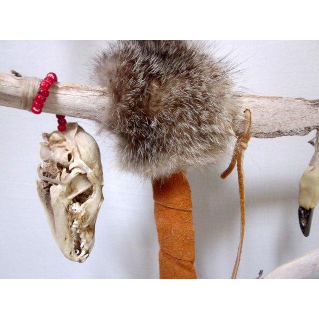 Vintage Native American Ceremonial Walking Stick For Sale - Image 5 of 8