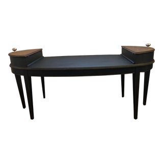 Rustic Coffee Table With Side Storage For Sale