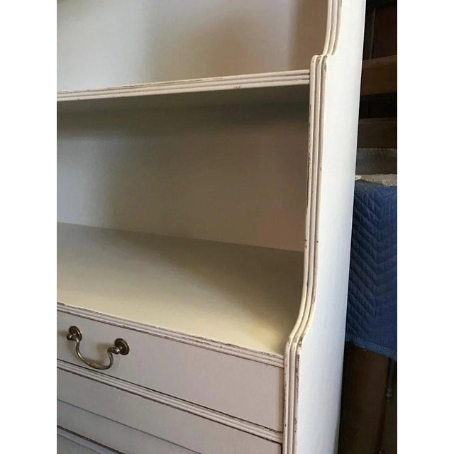 Vintage Painted Narrow Bookcase Cupboard For Sale - Image 4 of 10