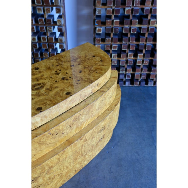 Wood 1980s Vintage Sculptural Burl Wood Chest For Sale - Image 7 of 11