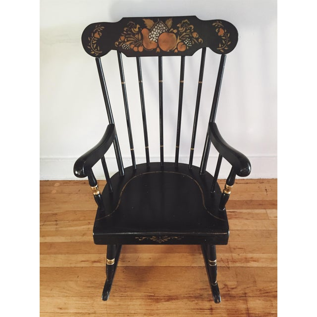 Thayer Antique Child's Rocking Chair - Image 7 ... - Thayer Antique Child's Rocking Chair Chairish