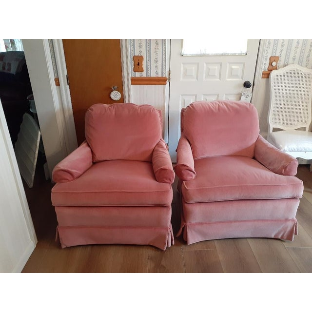 Drexel Heritage Frederick Edward Distictive Seating Club Chairs - A Pair For Sale - Image 12 of 12