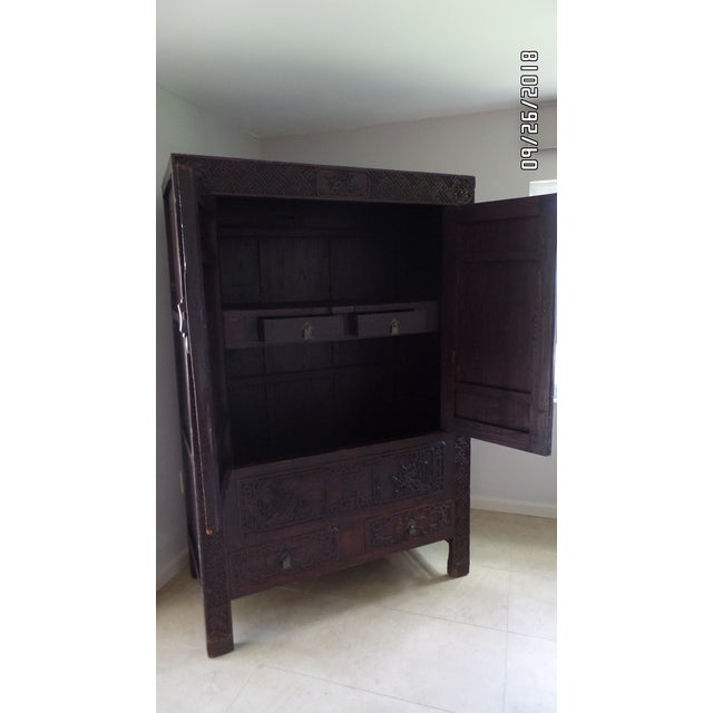 Antique Chinese Wardrobe- Wedding Chest For Sale - Image 9 of 13
