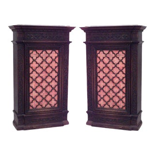 Spanish Renaissance Mahogany Cabinets For Sale
