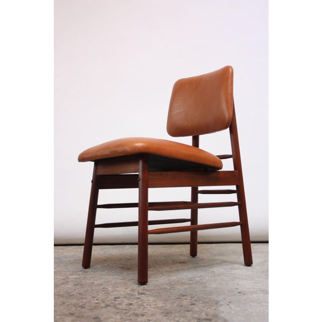 Set of Ten Walnut and Leather Dining Chairs by Greta Grossman For Sale - Image 9 of 13