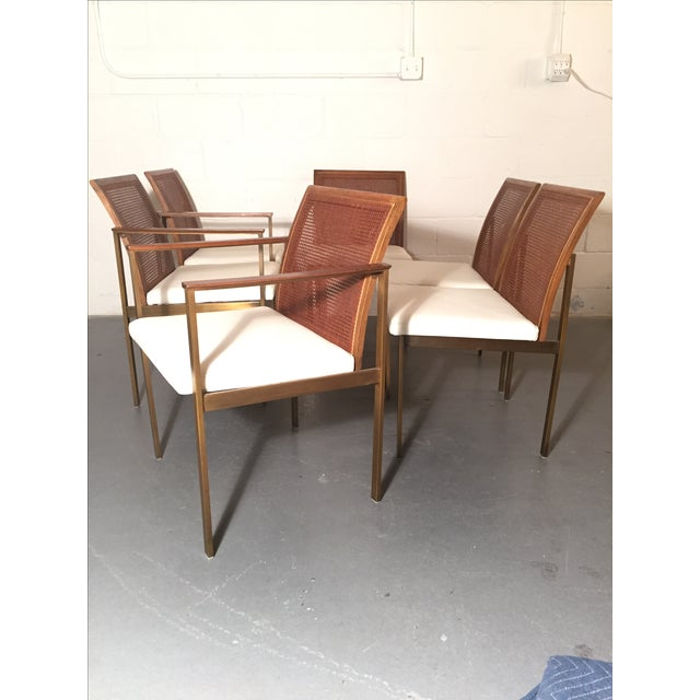 Paul McCobb Cane & Leather Dining Chairs - S/6 - Image 9 of 11