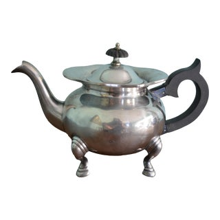 Antique Hoof Foot Laurence Smith Silver Teapot For Sale