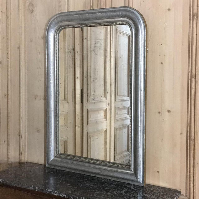 19th Century Silvered Louis Philippe Mirror For Sale - Image 9 of 11
