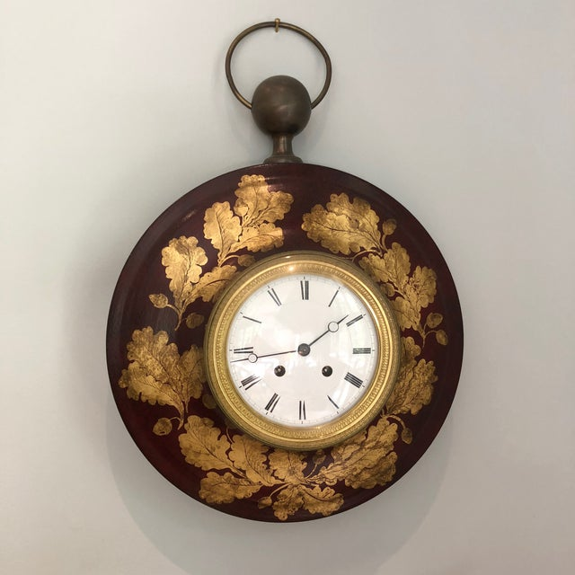 Antique French Tole Clock For Sale - Image 13 of 13