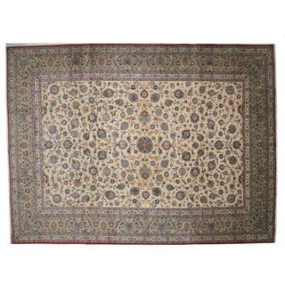 "Persian Kork Kashan Carpet - 10' X 13'4"" For Sale"