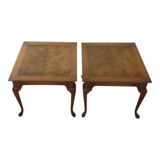 20th Century Art Nouveau Wooden Side Tables - a Pair