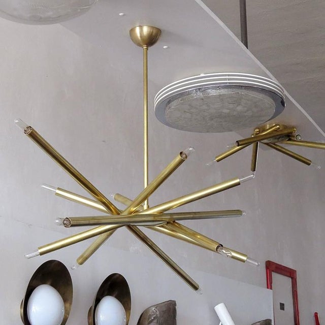 Not Yet Made - Made To Order Raw Brass & Spiral Chandelier For Sale - Image 5 of 11