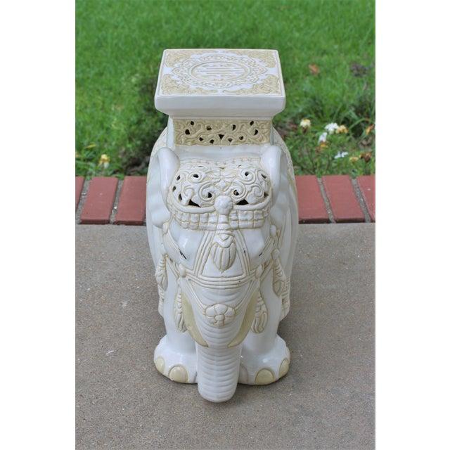 Mid-Century Elephant Garden Seat Stool - Image 6 of 10