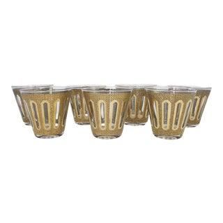 Mid-Century Culver Rocks Glasses - a Set of 7 For Sale