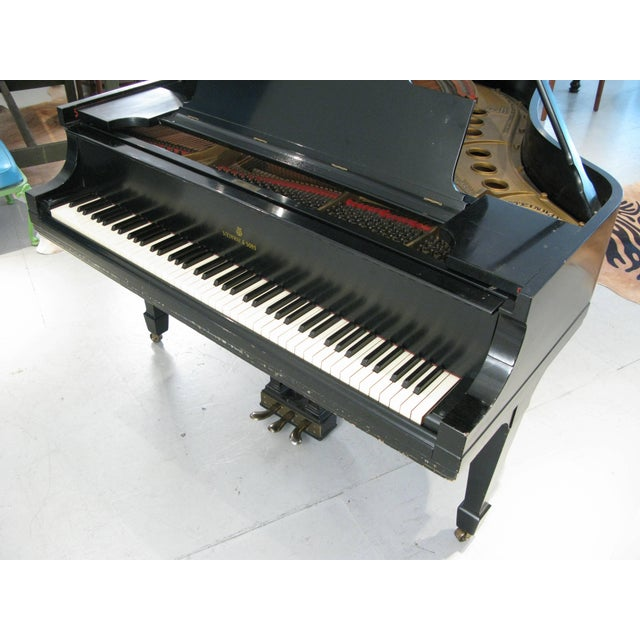 Steinway & Sons 1912 Model M Ebony Piano For Sale - Image 9 of 12