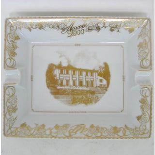 Bernardaud Limoges White and Gold Ashtray Preview