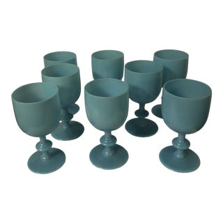 Portieux Vallerysthal Water Goblets - Set of 8 For Sale
