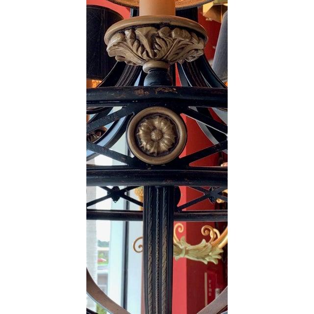 Fine Art Lighting Chandelier Bronze & Gold 5 Lights For Sale - Image 12 of 13