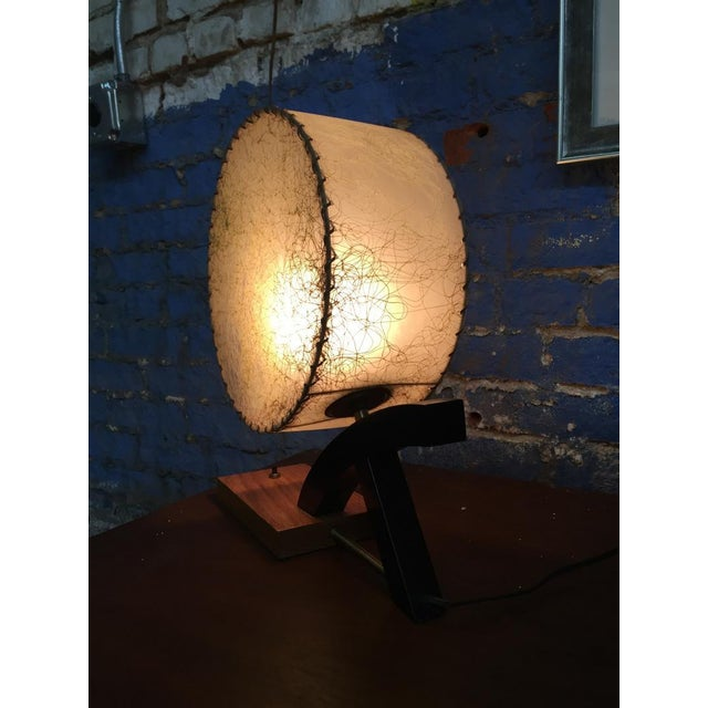 1950's Brass Wood Table Lamp - Image 3 of 3