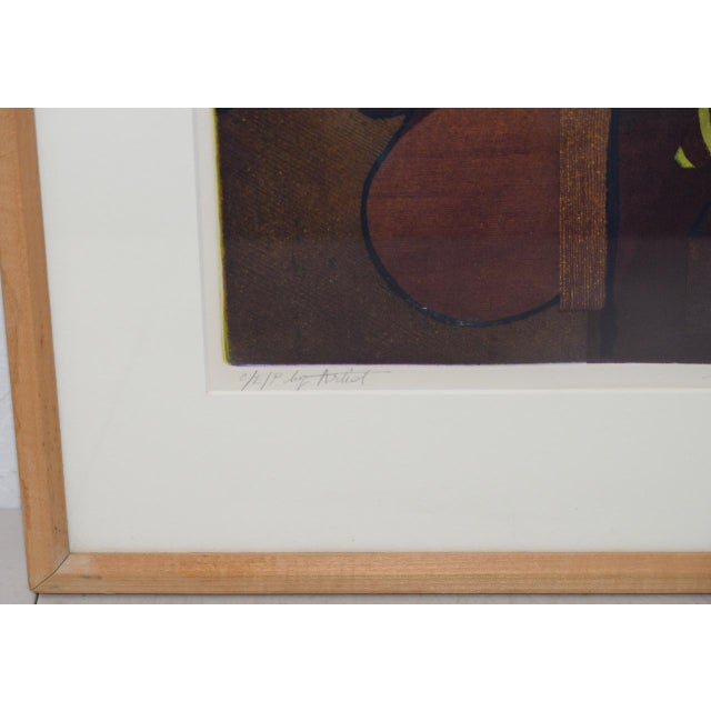Roland Petersen Original Abstract Etching W/ Aquatint C.1970s For Sale In San Francisco - Image 6 of 12