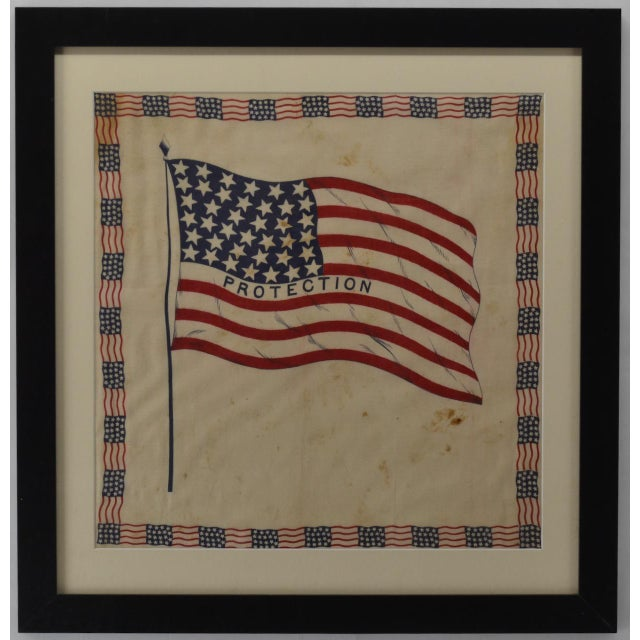 Antique 38 Star American Flag Bunting For Sale - Image 4 of 4