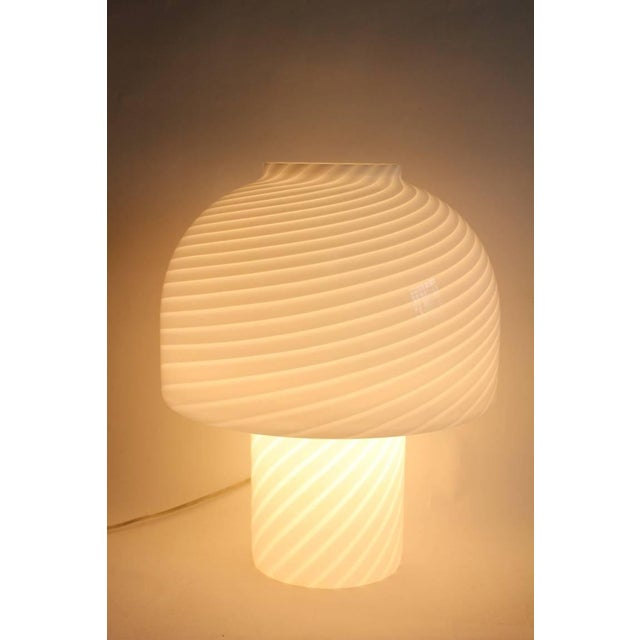 Luciano Vistosi Vintage Vistosi Murano Mushroom Table Lamp For Sale - Image 4 of 4