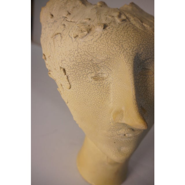 1950s Vintage Bust of Fantoni's Wife Sculpture For Sale - Image 10 of 12