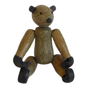 Vintage Kay Bojesen Style Mid-Century Wood Bear For Sale