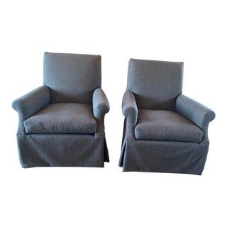 Lee Industries Swivel Chairs - a Pair For Sale