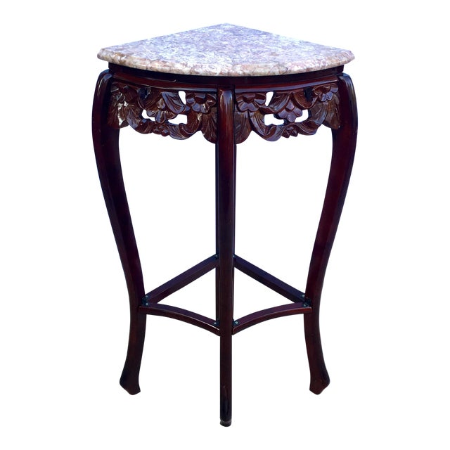 French style pink marble carved rosewood quarter roundcorner table french style pink marble carved rosewood quarter roundcorner table image 1 of watchthetrailerfo