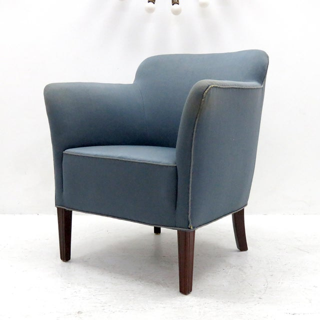 Danish Modern 1940 Fritz Hansen Club Chairs 'Model 1146' - a Pair For Sale - Image 3 of 12
