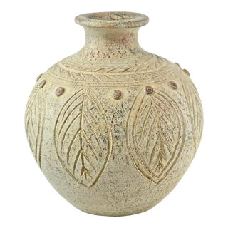 White Terra Cotta Studio Art Vase