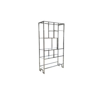Mid Century Modern Chrome Etagere Display by Milo Baughman For Sale
