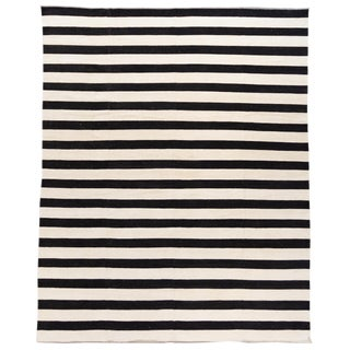 Apadana 21st Century Contemporary Striped Kilim Rug For Sale