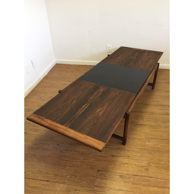 Danish Mid-Century Modern Rosewood Flip Top Coffee Table For Sale - Image 5 of 11