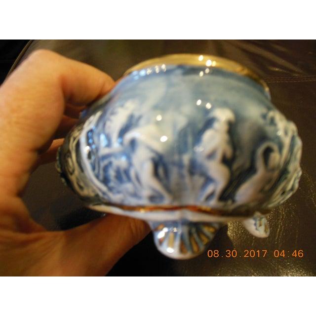 Unique color Capodimonte trinket box 51/2 LX41/2 W X31/2 High. In a perfect condition.