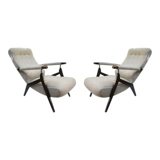 A Pair of Signed Reclining Armchairs, Italy 1950