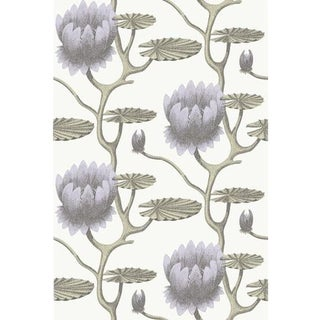 Cole & Son Summer Lily Wallpaper Roll - Lilac/Grn/Wt For Sale