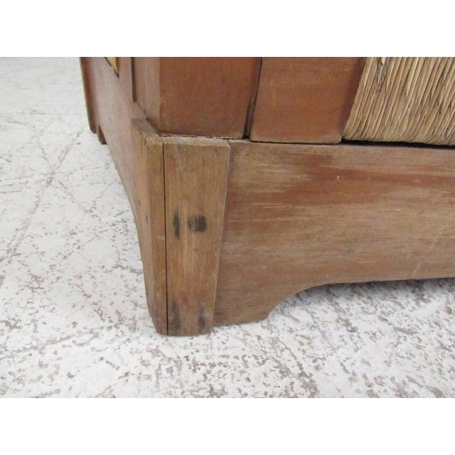 Wood Tropical Tiki Style Dry Bar With Stools For Sale - Image 7 of 11