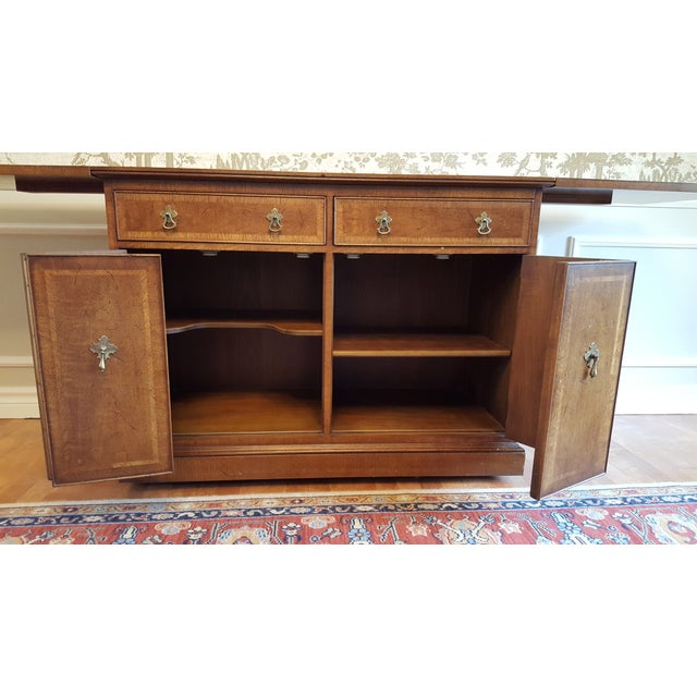 Mid-Century Modern Mid-Century Henredon Folio Four Rolling Buffet For Sale - Image 3 of 11