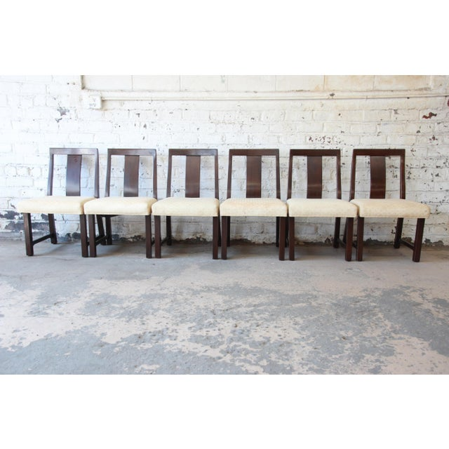 Dunbar Furniture Edward Wormley for Dunbar Mid-Century Modern Dining Chairs, Set of 16 For Sale - Image 4 of 13